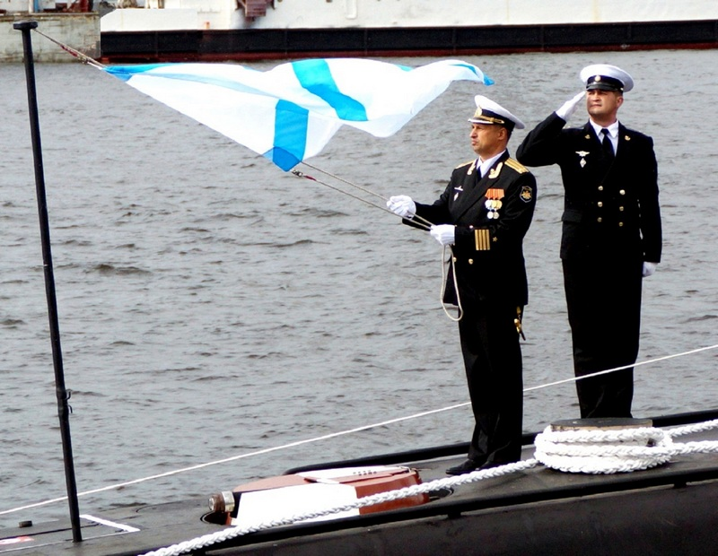 Под Андреевским флагом.