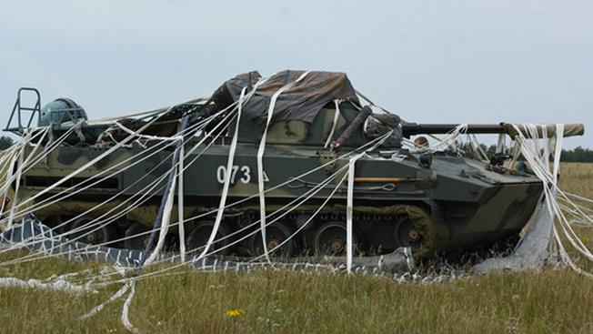 БМД-4М после приземления