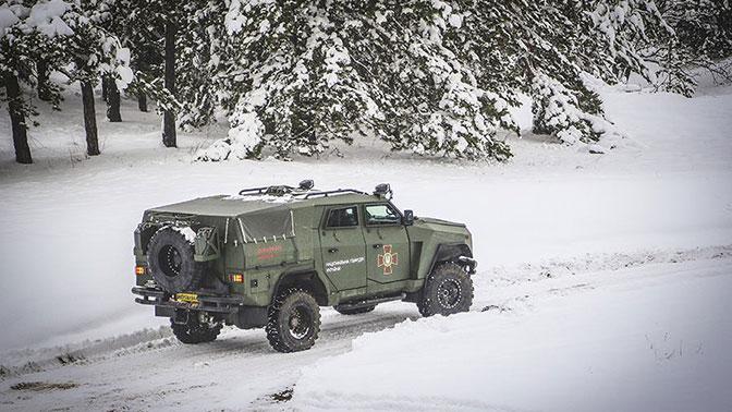 Нацгвардия проверила бронеавтомобиль «Варта-Новатор»