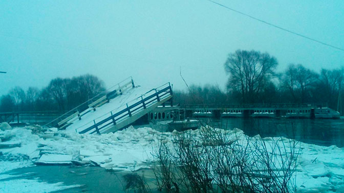 Вышедшая из берегов Клязьма снесла мост под Владимиром